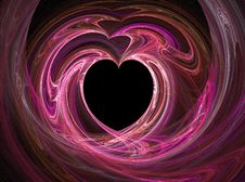 Free Black Heart Among Pink And Purples Stock Photos - 7784883