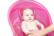 Free Baby In Bath Stock Photography - 7785012