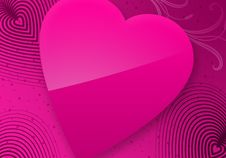 Free Pink Valentine S Day Illustrated Heart Stock Photos - 7785123