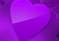 Violet Valentine S Day Illustrated Heart Stock Photo