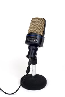 Free Large-Diaphragm Microphone On Stand Stock Photography - 7785262