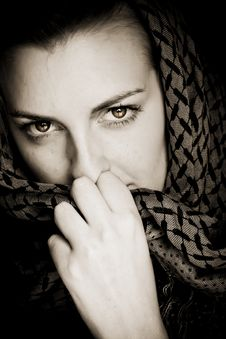 Free Woman With Covered Face Stock Image - 7785361