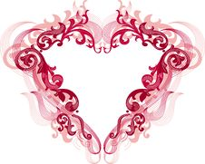 Free Red Heart With Filigree Ornament Stock Photography - 7785802