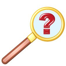 Free Magnifying Glass - Question Mark Stock Image - 7785861