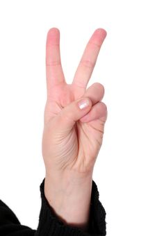 Free Hand Sign Royalty Free Stock Photography - 7785887