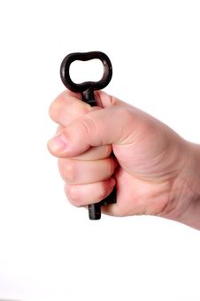 Free Key In A Hand Royalty Free Stock Photo - 7786025