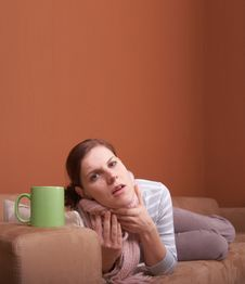 Free Sick On The Couch Royalty Free Stock Image - 7786106