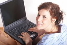 Free Young Woman Working On Computer Royalty Free Stock Image - 7786146