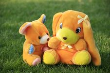 Free Bear And Dog Toy Royalty Free Stock Images - 7787129