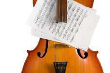 Free Cello With Notes Royalty Free Stock Photography - 7787177