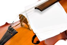 Cello With Notes Stock Image