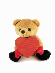Free Valentine Teddy Royalty Free Stock Photography - 7787427