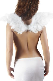 Free Angel With White Wings Royalty Free Stock Images - 7787919