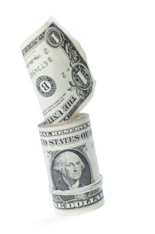 Free Dollar Roll Up Stock Photography - 7788352