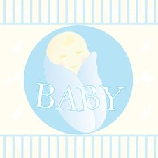 Free Baby Boy Card Royalty Free Stock Photo - 7788795