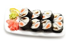 Japanese Cuisine - Rolls Yin Yang Royalty Free Stock Images