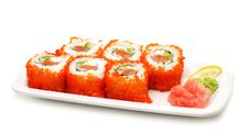 Free Japanese Cuisine - Rolls With Caviar Royalty Free Stock Photos - 7788808