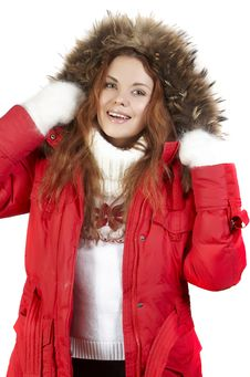 Winter Snow Woman Stock Images