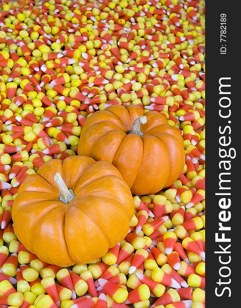 Mini Pumpkins in Candy Corn