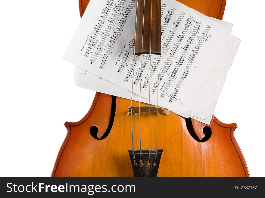 Cello with notes