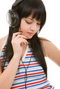 Free Young Woman In Earphones Stock Image - 7793451