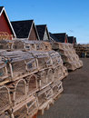 Free Lobster Traps On The Wharf Royalty Free Stock Image - 7795276