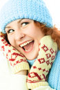 Free Happy Girl Wearing Warm Winter Clothes Royalty Free Stock Photo - 7799695