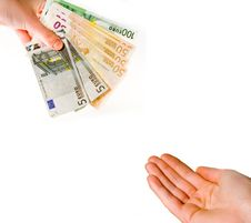 Free Handing Over Euro Banknotes Stock Photo - 7790100