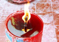 Candle Light On Chinese Temple Royalty Free Stock Image