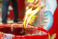 Free Candle Light On Chinese Temple Royalty Free Stock Photo - 7791245