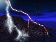 Free Lightning Illustration Royalty Free Stock Photo - 7791565