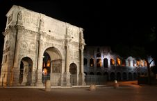 Coliseum By Night Royalty Free Stock Images