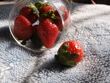 Free Red Strawberries In Glass Cup Royalty Free Stock Image - 7791826