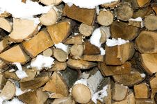 Free Scrap Of Tibers Under Snow Royalty Free Stock Photography - 7791937