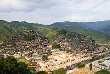 Free Village In Mountain Stock Image - 7792601