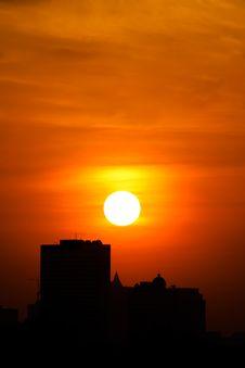 Free City Sunset Royalty Free Stock Image - 7792656