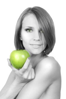 Free Green Apple Royalty Free Stock Photography - 7792707