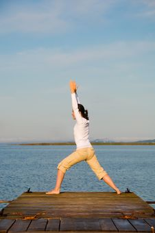 Free Yoga Woman Royalty Free Stock Photography - 7792757