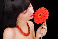 Free Young Woman With Flower Royalty Free Stock Photo - 7792975