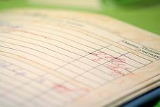 Free Diary Of Progress Of Schoolboy Stock Photo - 7793070