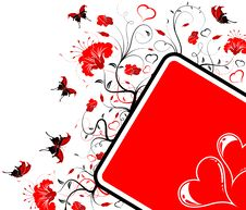 Valentines Day Frame Stock Photography