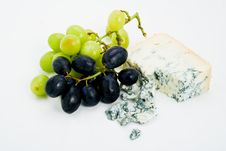 Free Cheese And Grapes Stock Image - 7793331