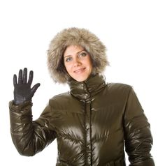 Free Young Woman In A Winter Fur Hood Stock Image - 7793431