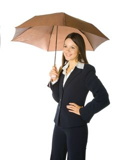 Free Portrait Of A Business Woman Holding A Umbrella Stock Image - 7793741