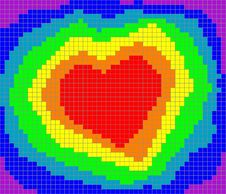 Valentine Rainbow Heart Royalty Free Stock Photography