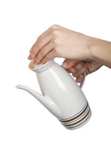 Free Teapot On White Background Stock Image - 7794111