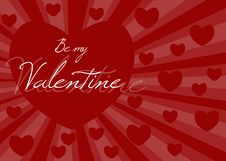 Free BE MY VALENTINE Royalty Free Stock Photo - 7794265
