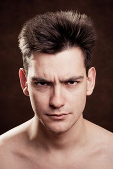 Free Young Man Facial Expression Stock Photography - 7794412