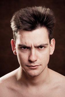Young Man Facial Expression Stock Photography
