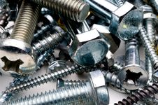 Free Close-up Of Various Bolts And Screws Stock Images - 7794484
